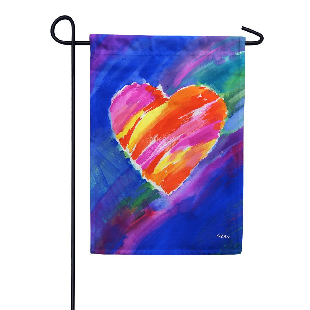 Heart in Blue Garden Flag
