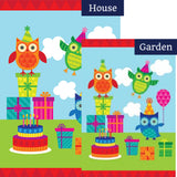 Party Owls Flags Set (2 Pieces)