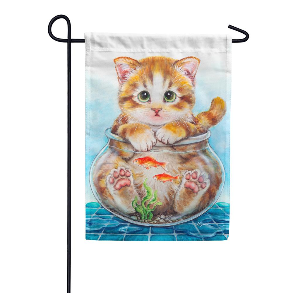 Cat Trap Garden Flag