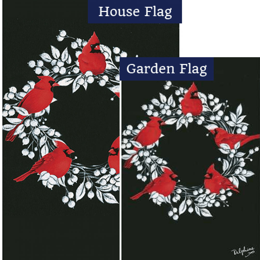 Cardinal Wreath Flags Set (2 Pieces)