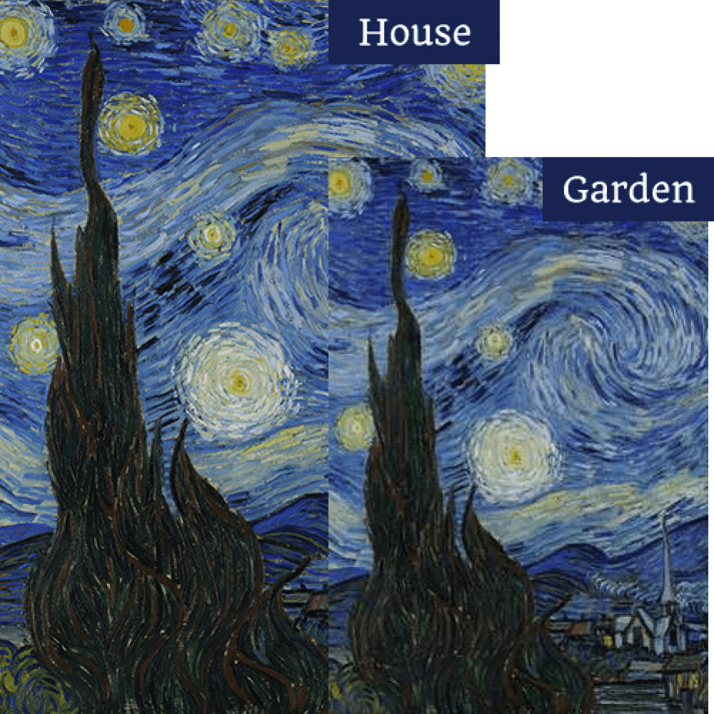 Van Gogh's Starry Night Flags Set (2 Pieces)