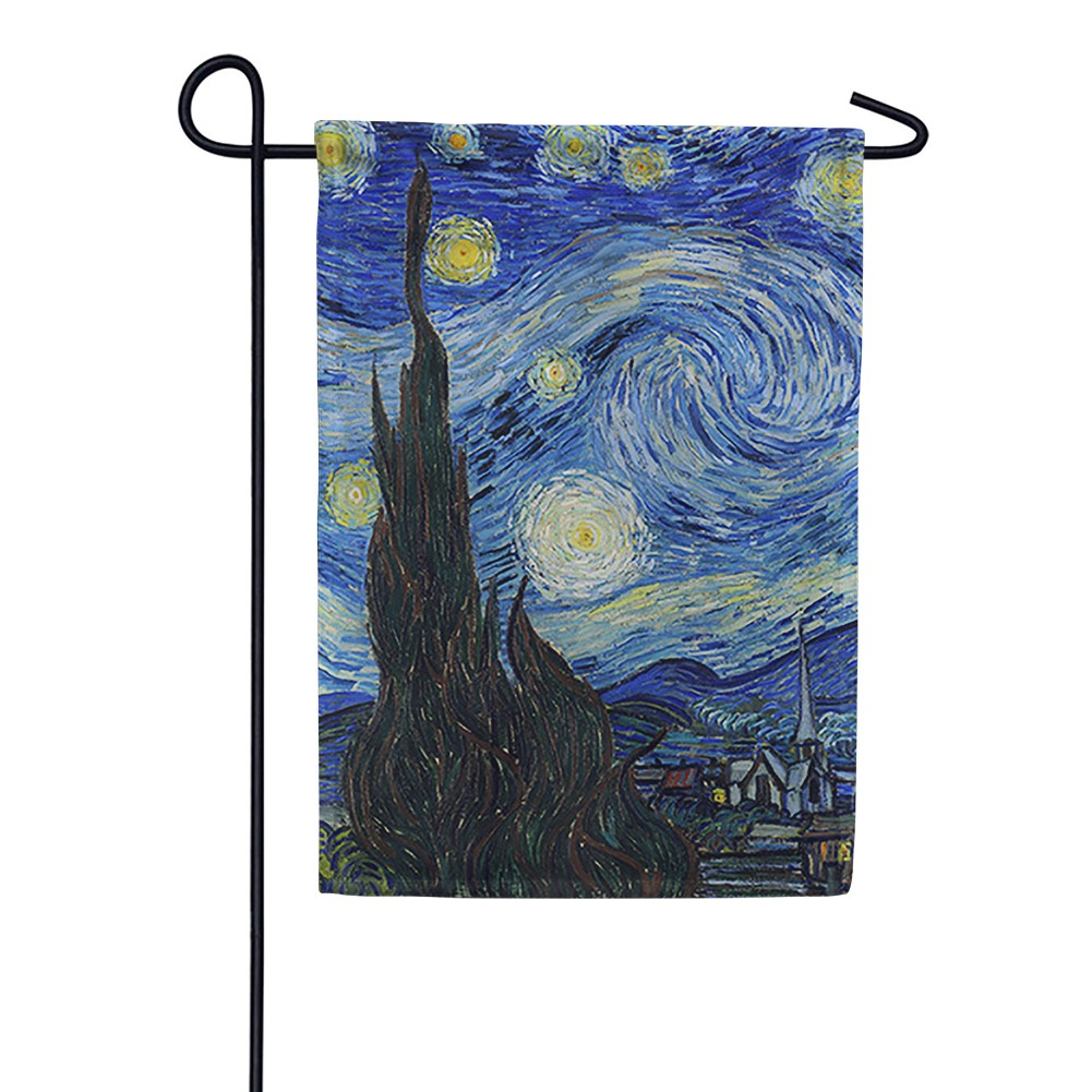 Van Gogh's Starry Night Garden Flag