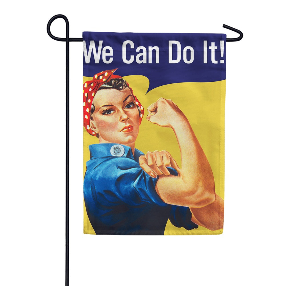 We Can Do It Garden Flag