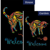 Yarn Cat Welcome Flags Set (2 Pieces)