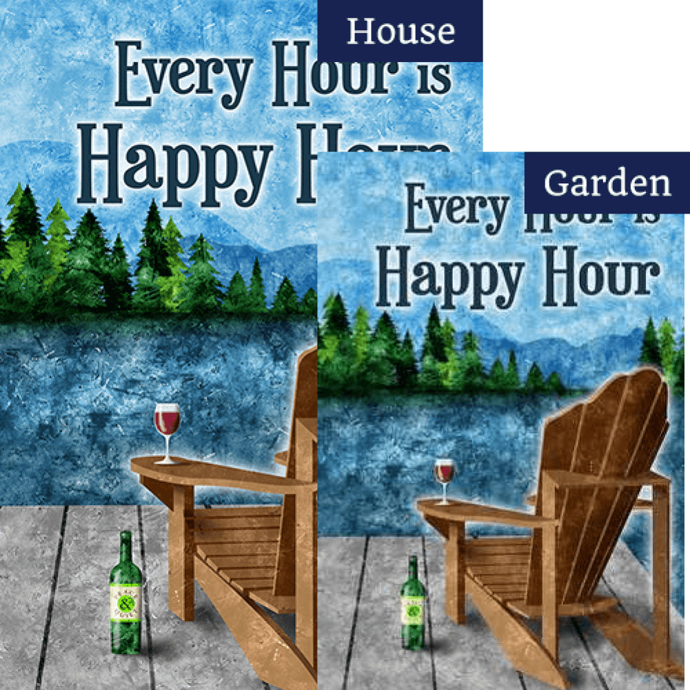 Happy Hour Lake Flags Set (2 Pieces)