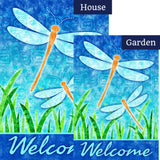 Dragonflies and Reeds Flags Set (2 Pieces)