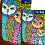 Owl Family Tree Flags Set (2 Pieces)