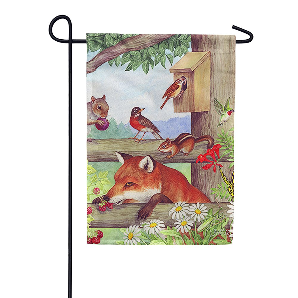 Fox and Friends Garden Flag