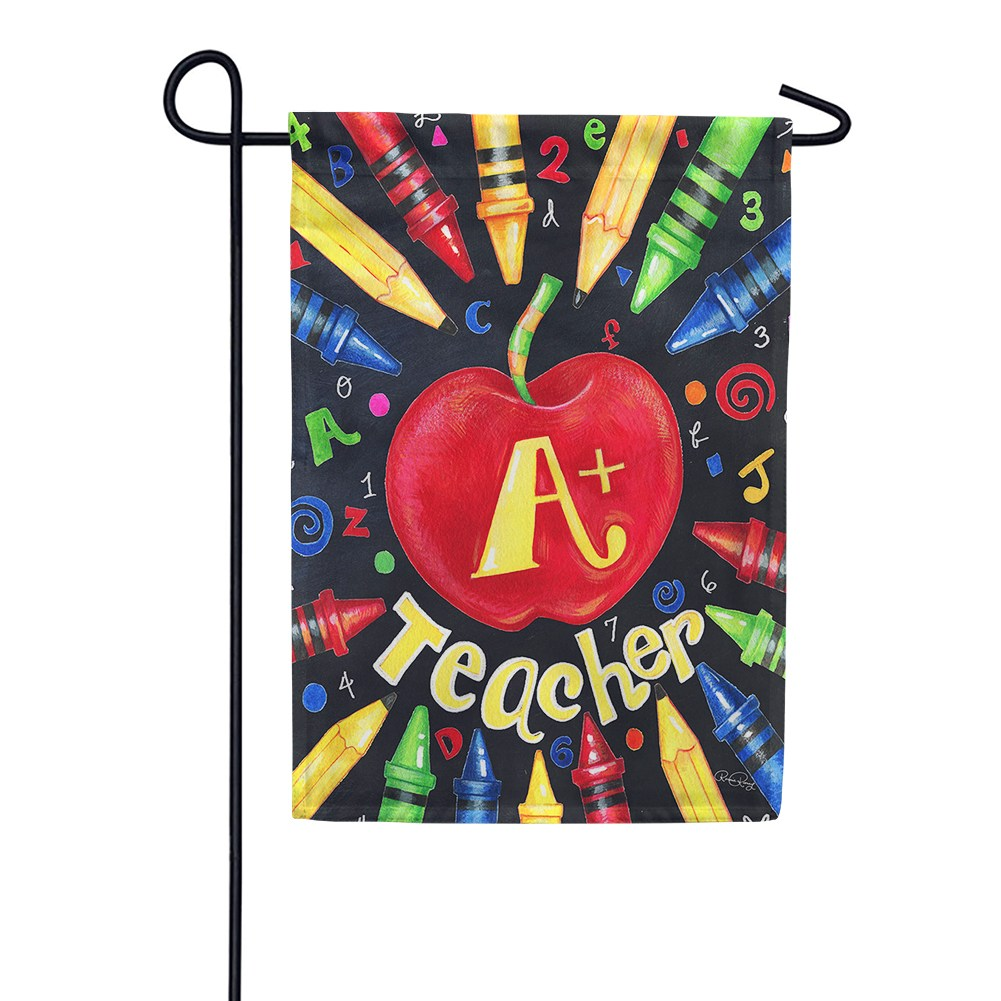 Back To School Teacher Garden Flag