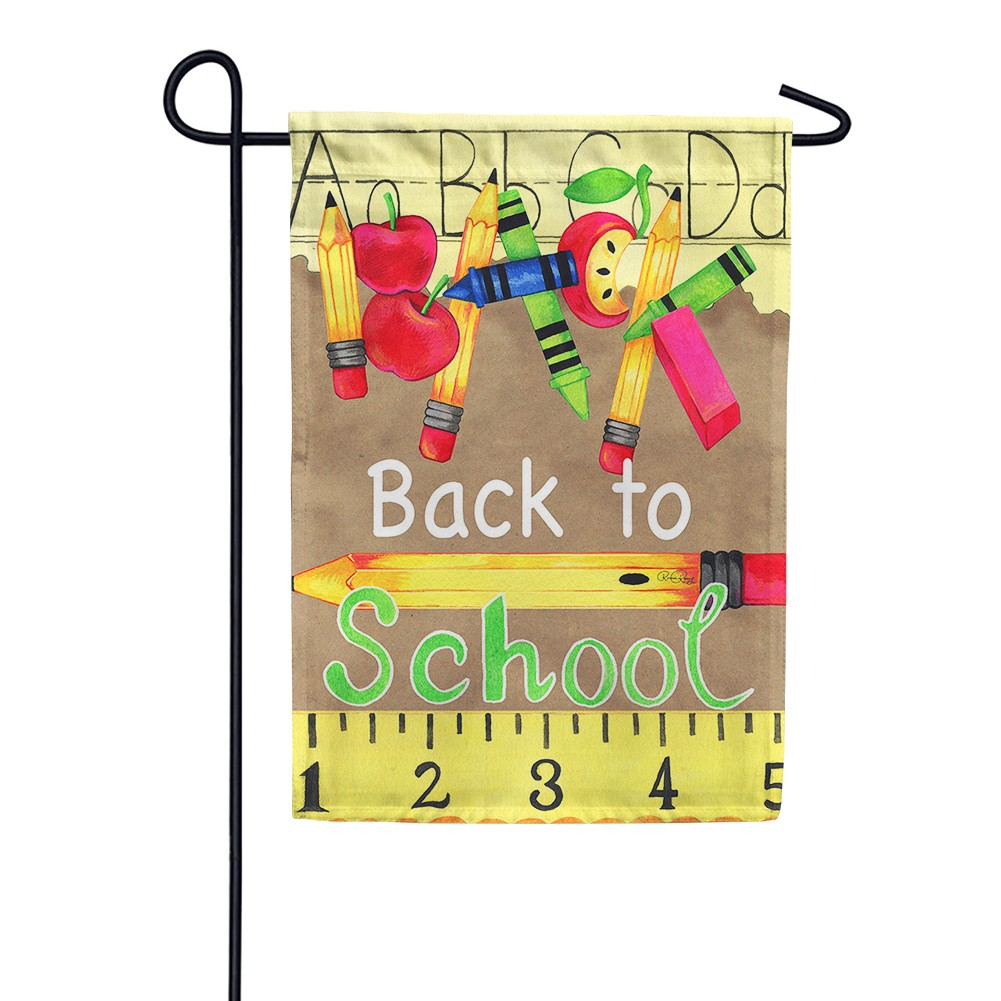 Back To School Supplies Garden Flag