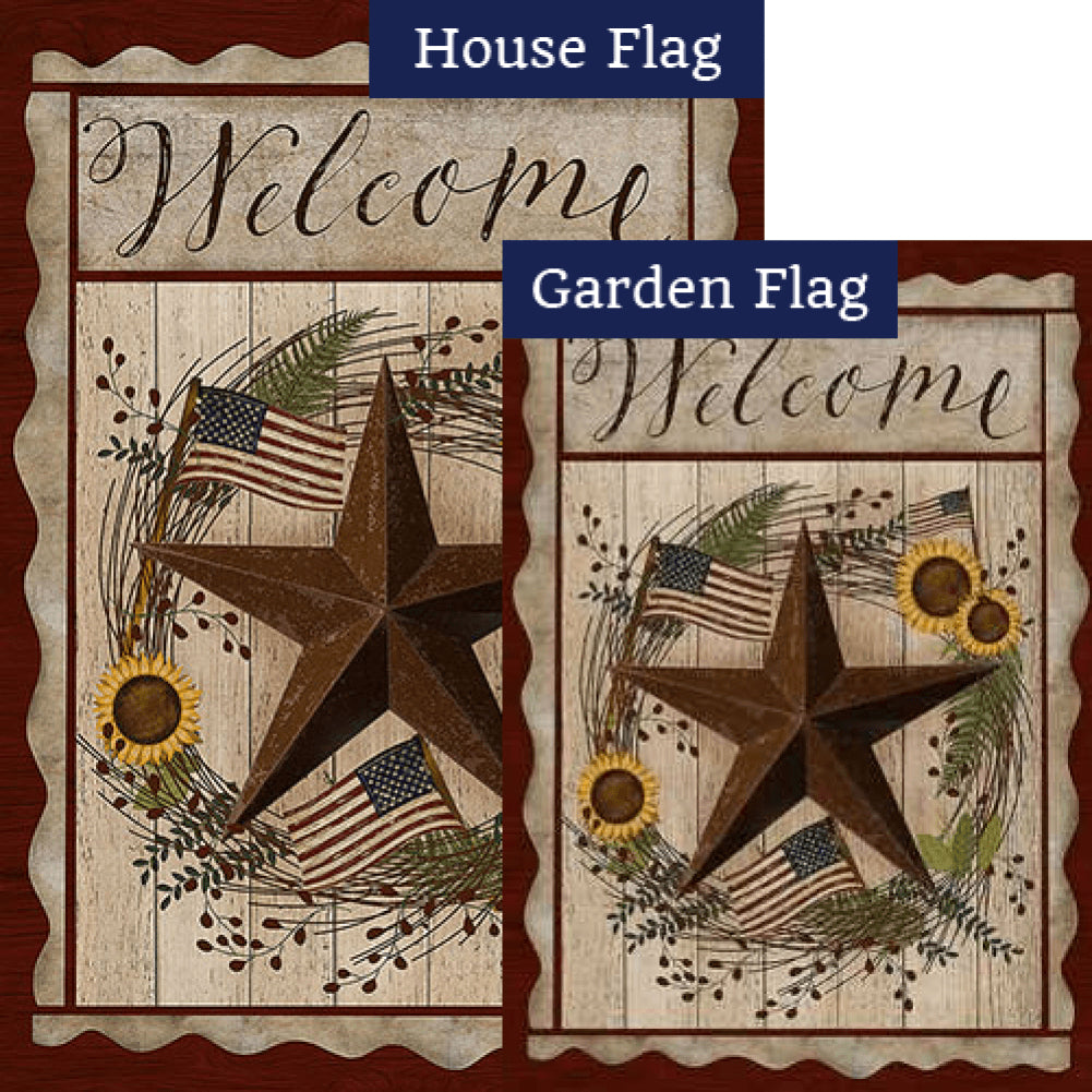 Barn Star Welcome Flags Set (2 Pieces)