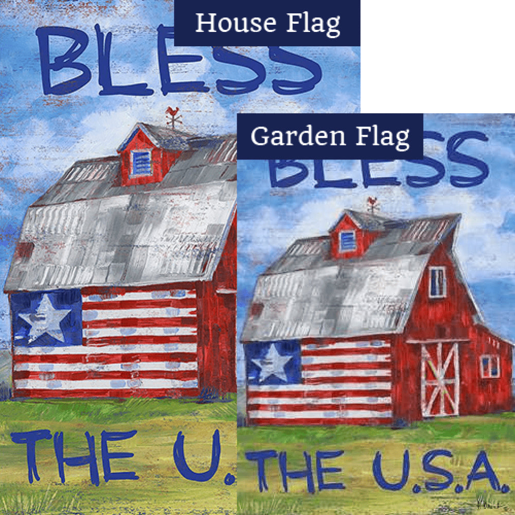 Americana Barn USA Flags Set (2 Pieces)