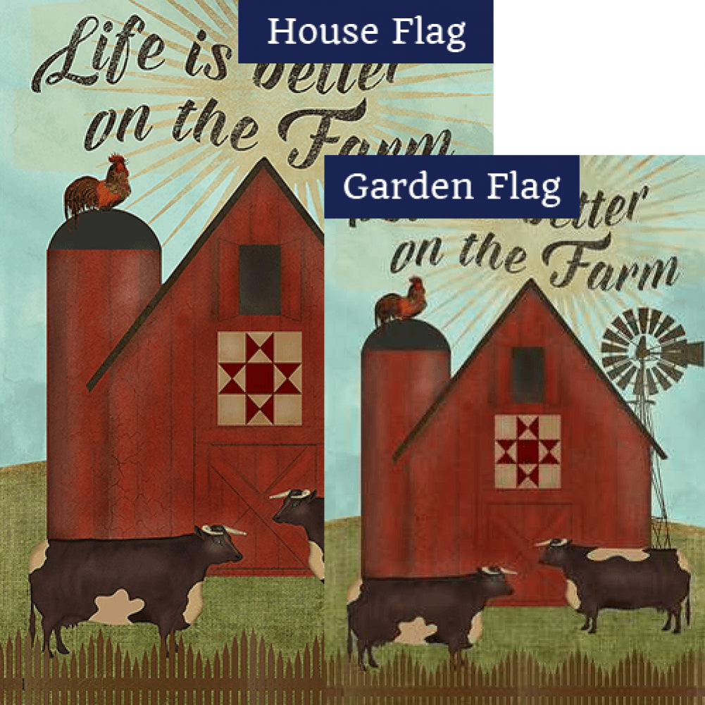 Better On The Farm Flags Set (2 Pieces)