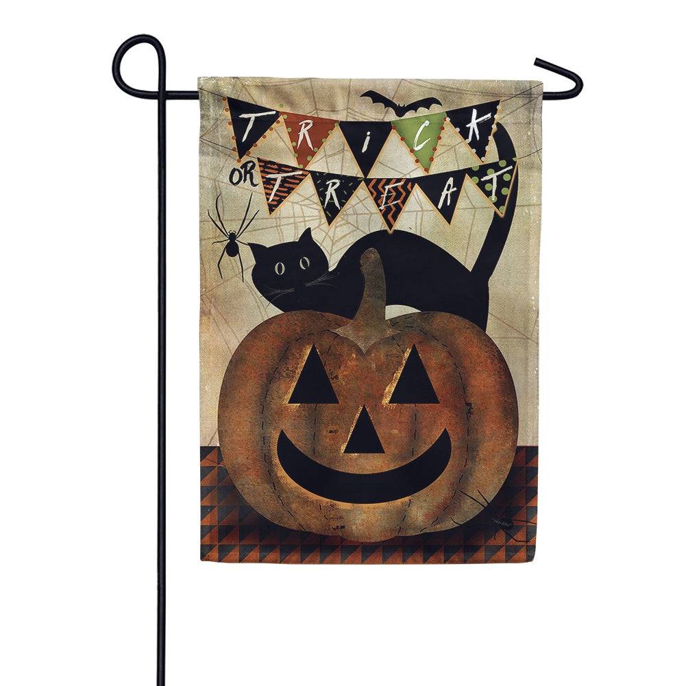 Americana Trick or Treat Garden Flag