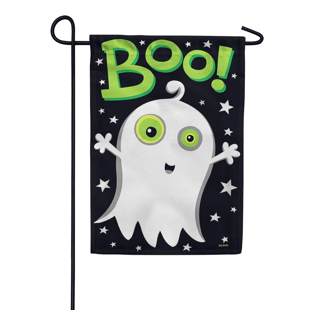Boo Ghost Night Garden Flag