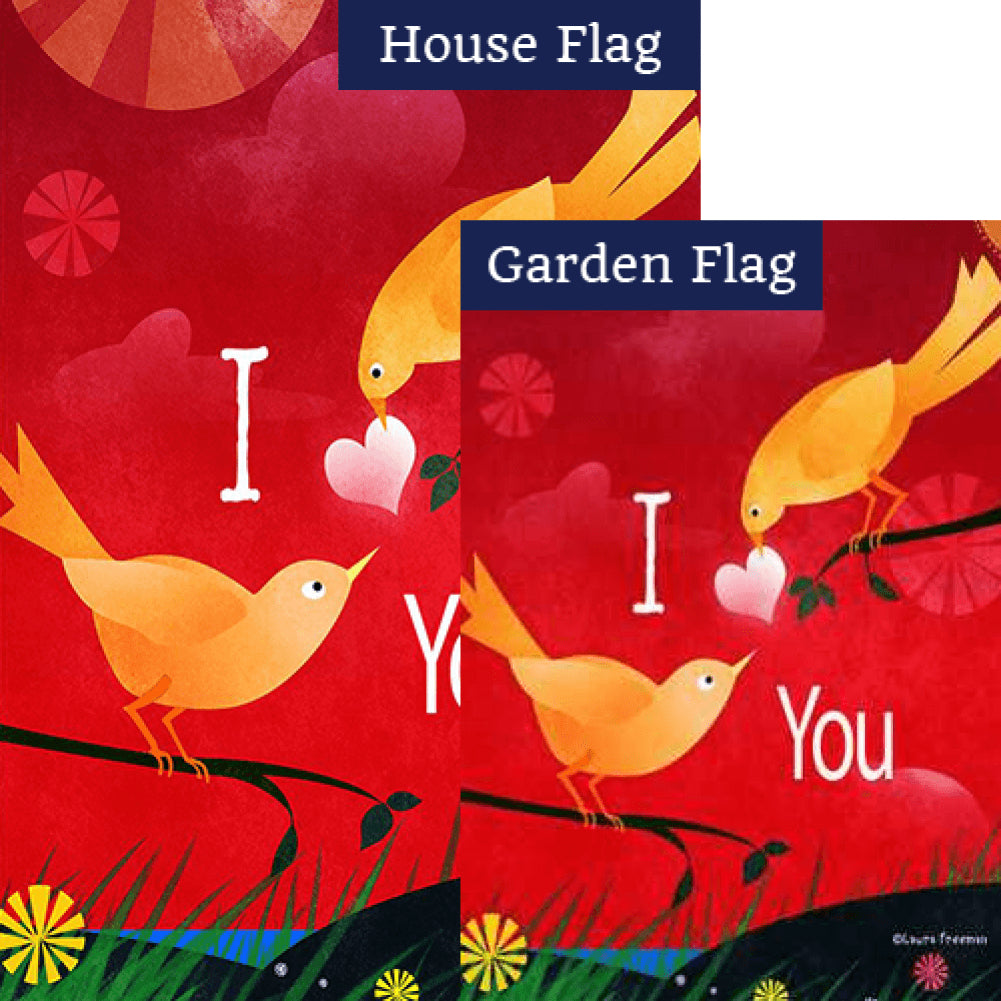 Valentine Birds Flags Set (2 Pieces)