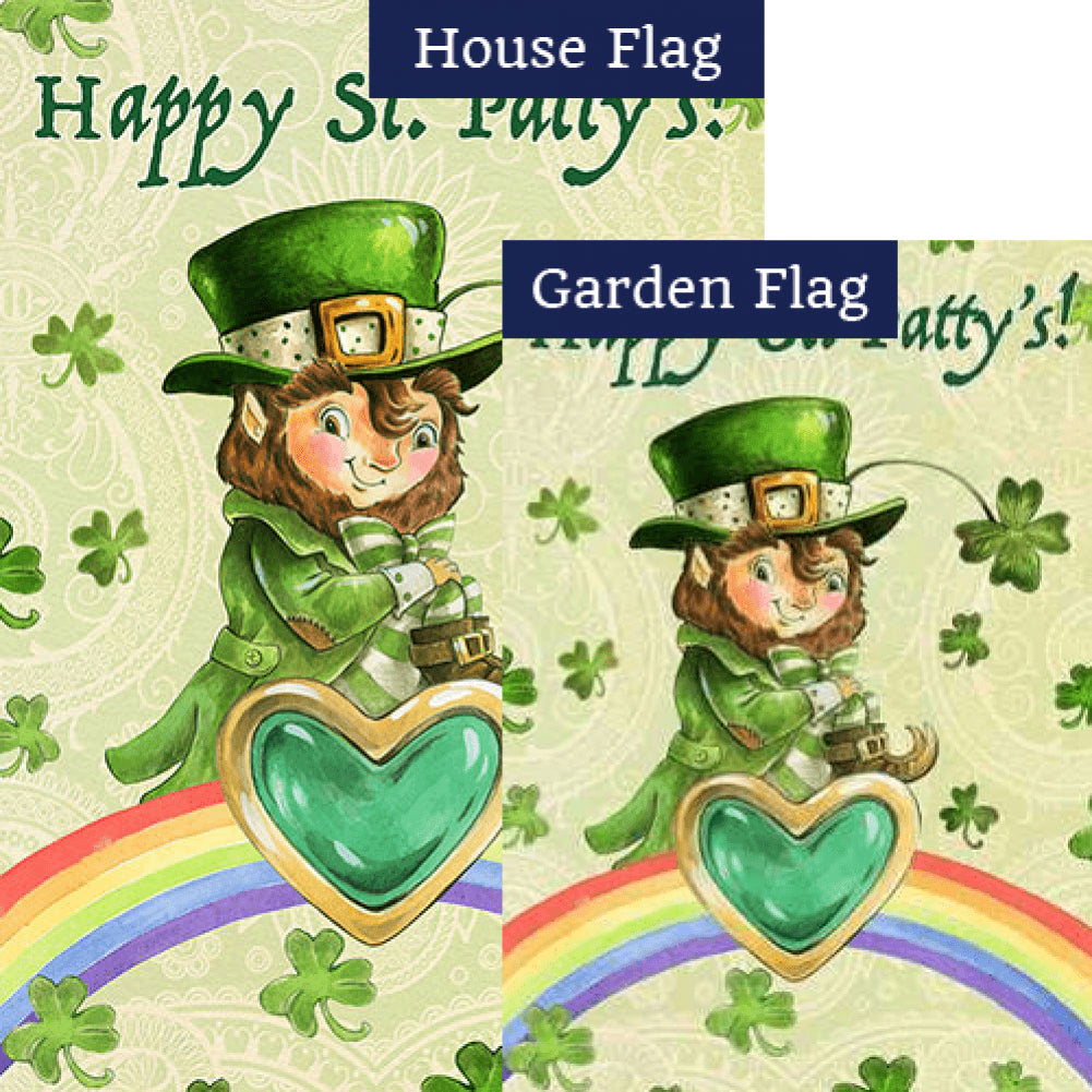 Happy Saint Patty Flags Set (2 Pieces)