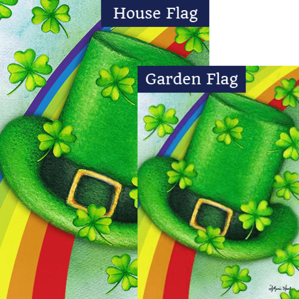 Leprechaun Hat Rainbow Flags Set (2 Pieces)
