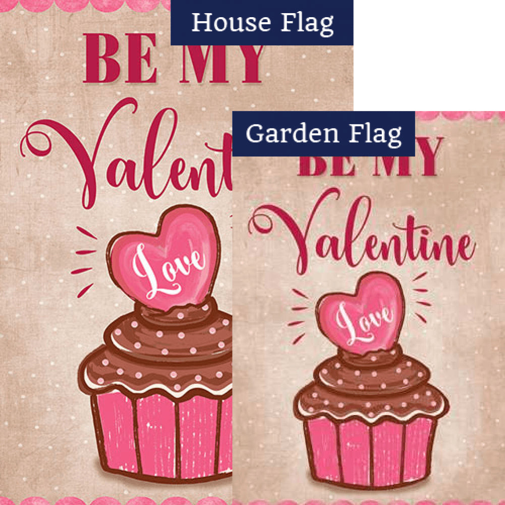 Valentine Cupcake Flags Set (2 Pieces)