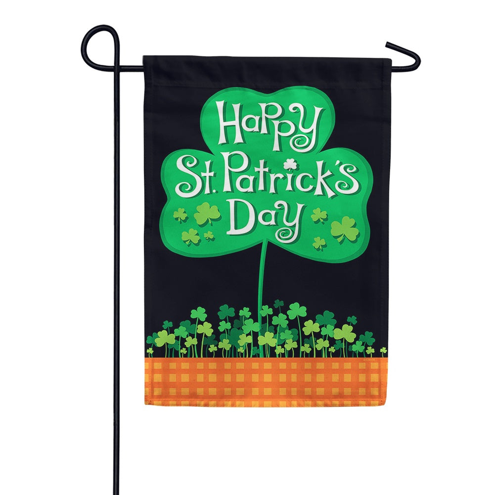 Saint Pat's Clover Patch Garden Flag
