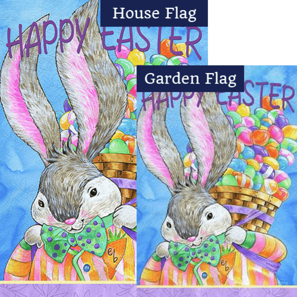 Easter Bunny Basket Flags Set (2 Pieces)