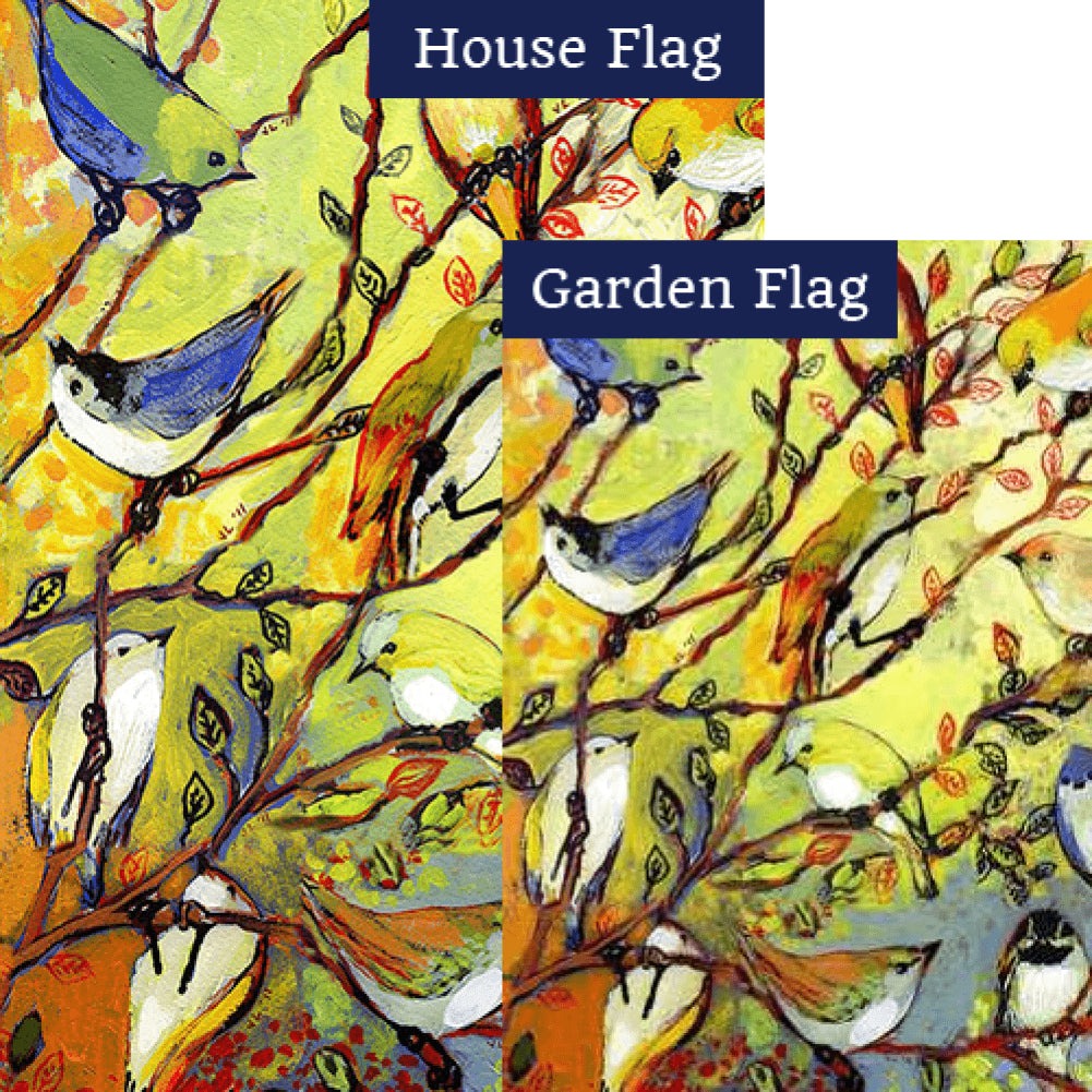 Birdy Branches Flags Set (2 Pieces)