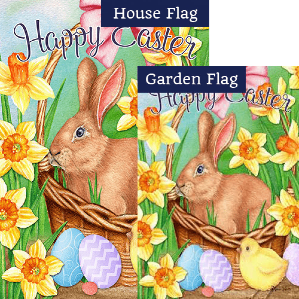 Easter Basket Bunny Flags Set (2 Pieces)