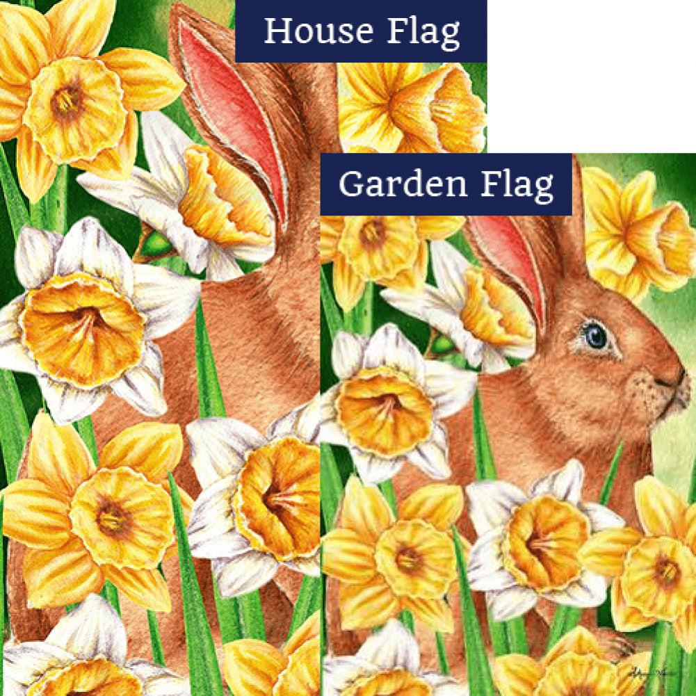 Daffodil Rabit Flags Set (2 Pieces)