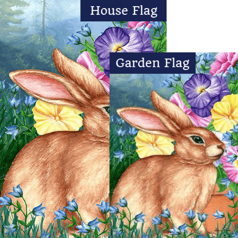 Blooming Bunny Flags Set (2 Pieces)