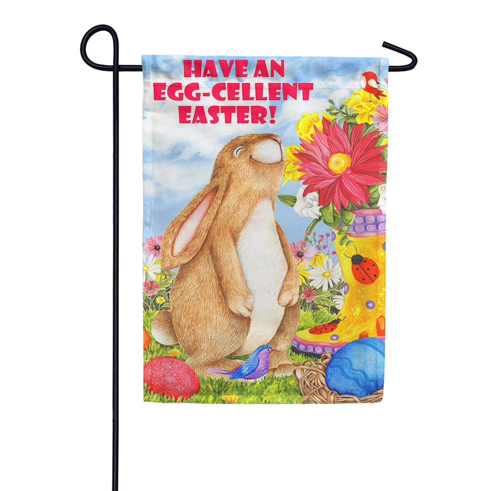 Egg-celent Easter Garden Flag