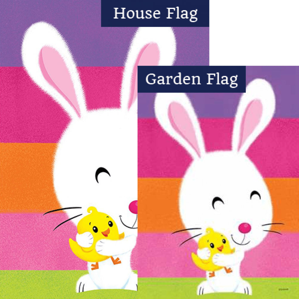 Fuzzy Bunny and Chick Flags Set (2 Pieces)