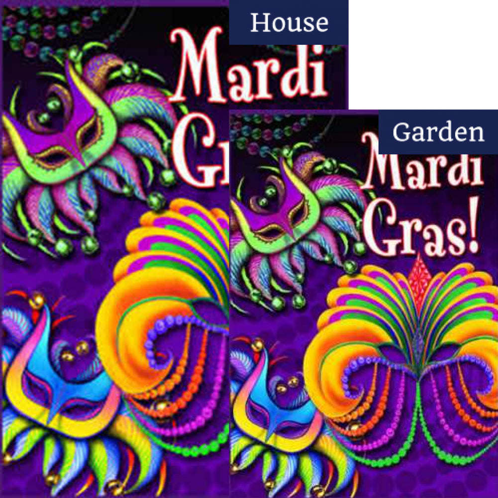 Toland Mardi Gras Flags Set (2 Pieces)