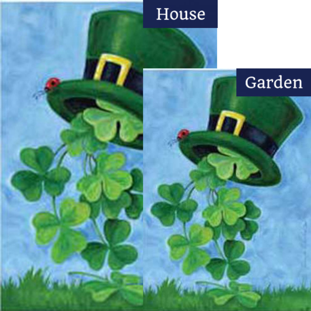 Shamrock Shower St.Patricks's Day Flags Set (2 Pieces)