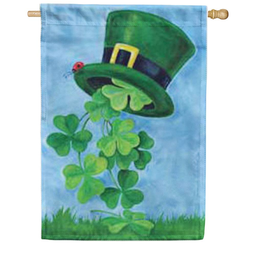 Shamrock Shower St.Patricks's Day House Flag