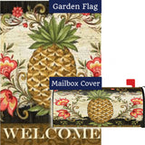 Pineapple & Scrolls Flag Mailwrap Set (2 Pieces)