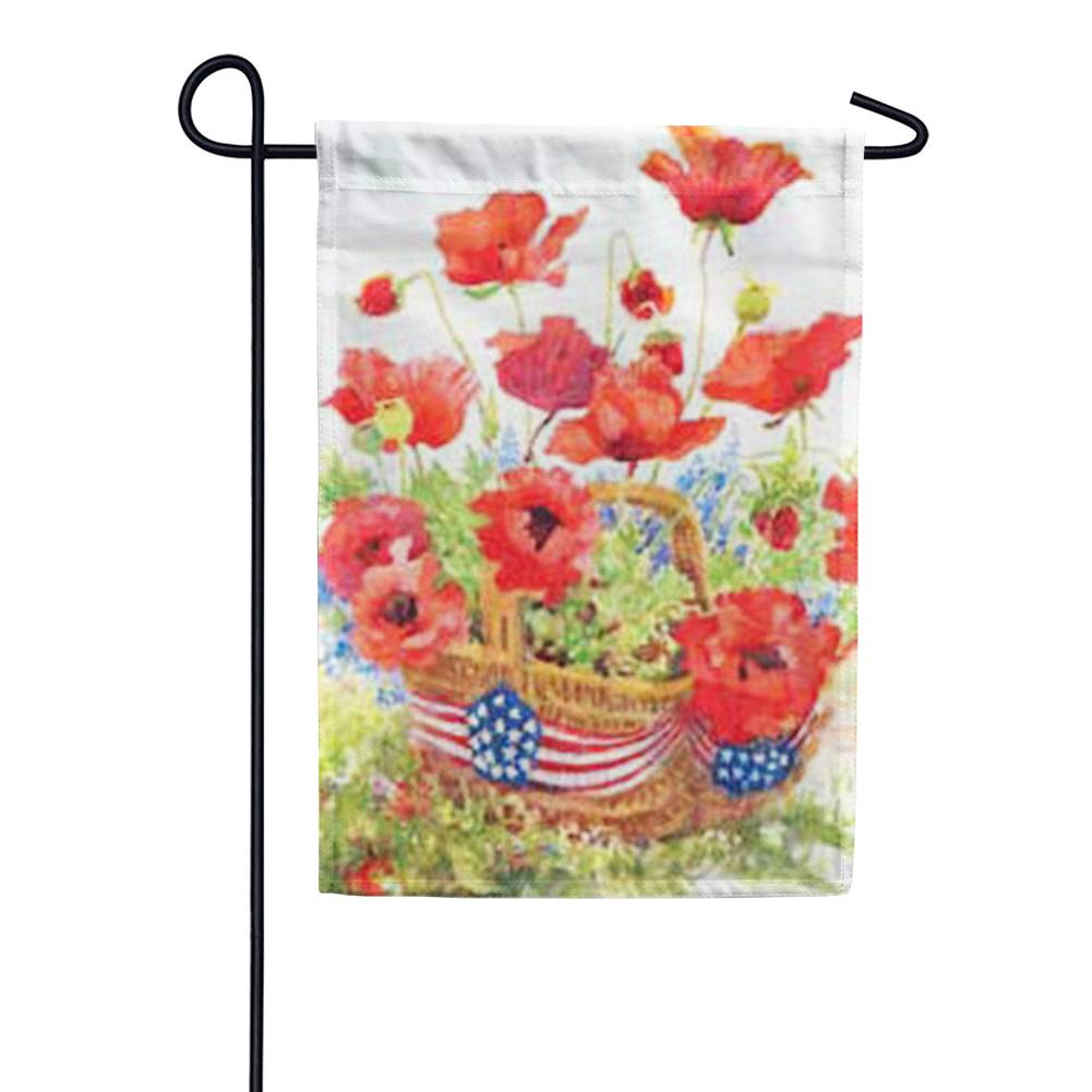 Patriotic Poppies Garden Flag