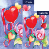 Love Valentine's Day Flags Set (2 Pieces)