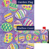 Egg Toss Easter Flag Mailwrap Set (2 Pieces)