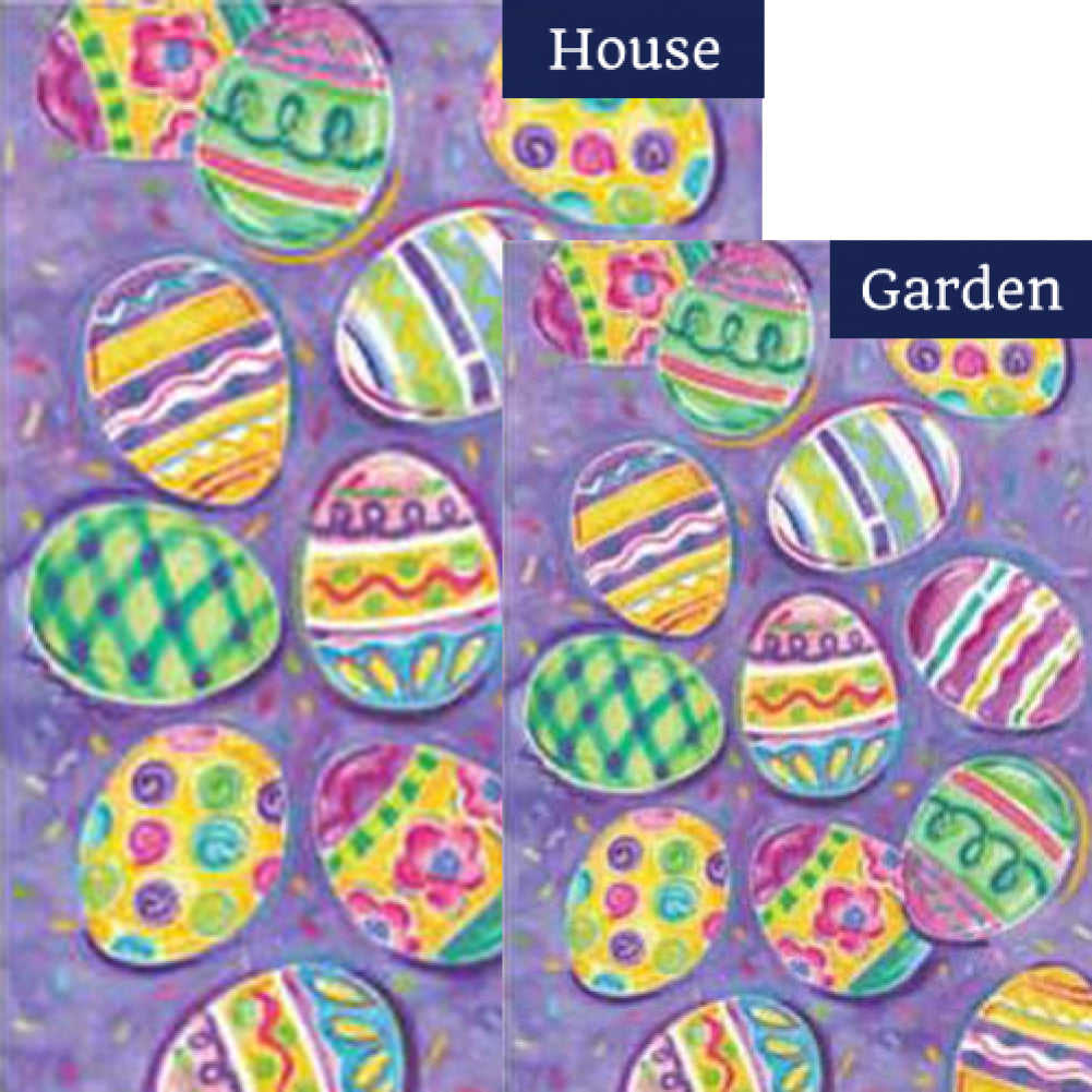 Egg Toss Easter Flags Set (2 Pieces)