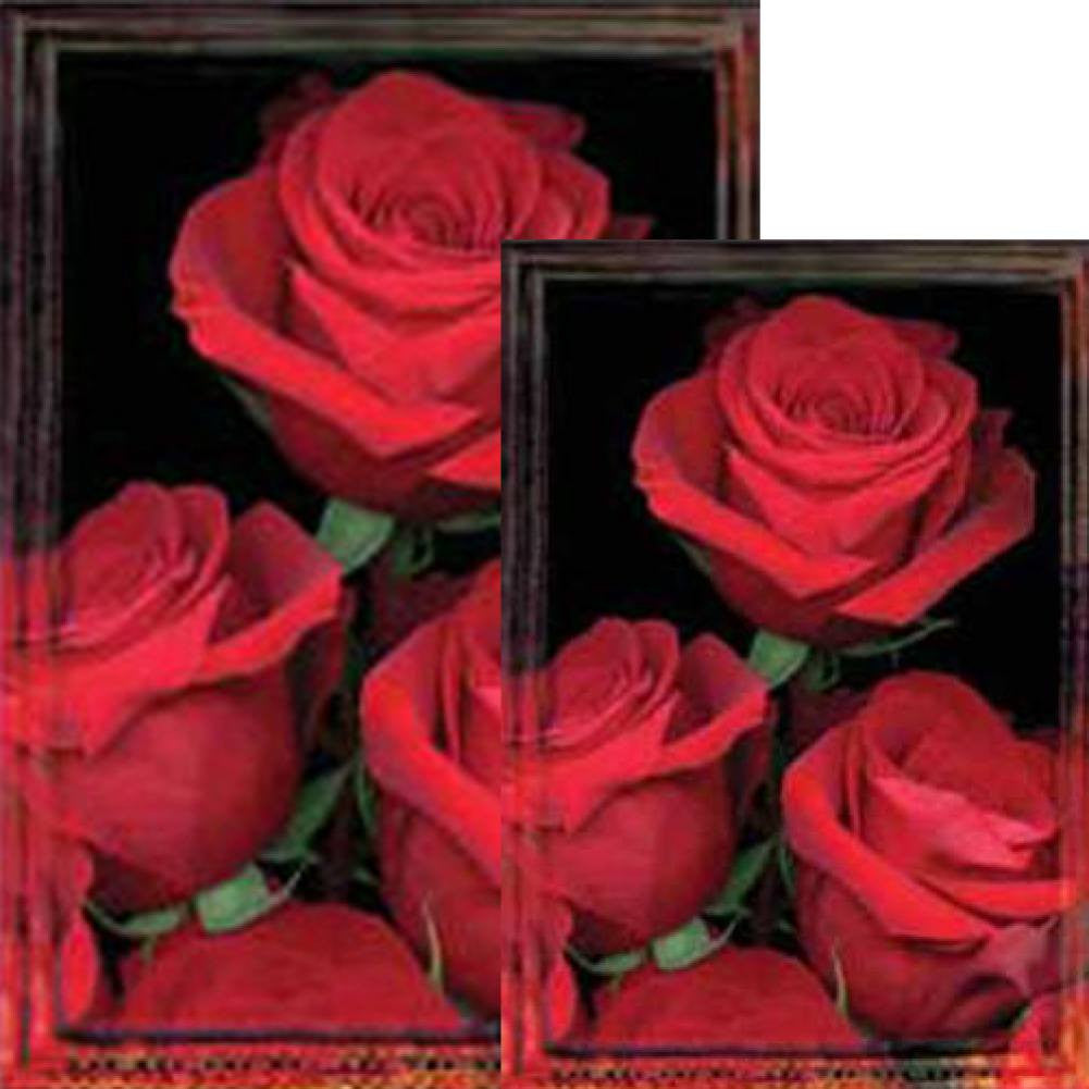 Fresh Cut Roses Valentine's Day Flags Set (2 Pieces)