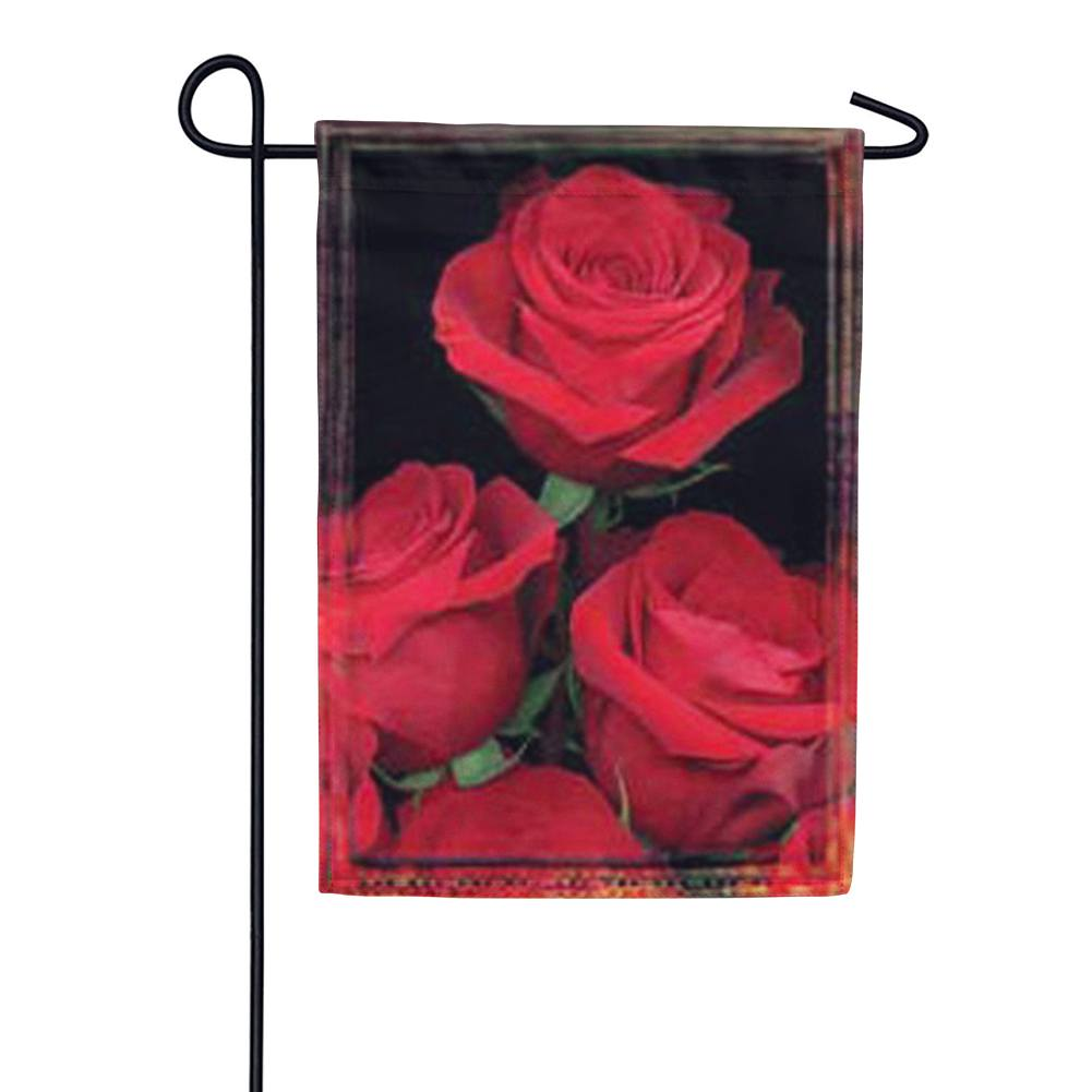 Fresh Cut Roses Valentine's Day Garden Flag