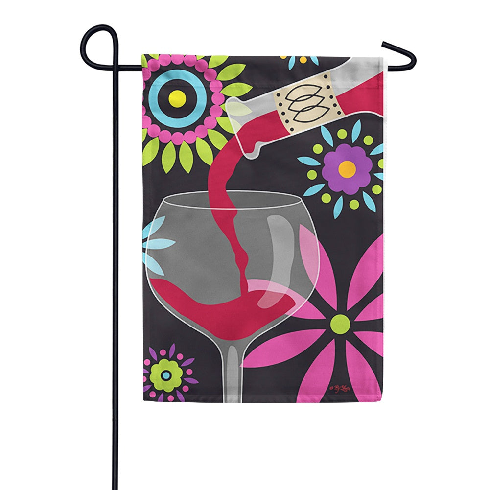 Red Wine Toland Garden Flag
