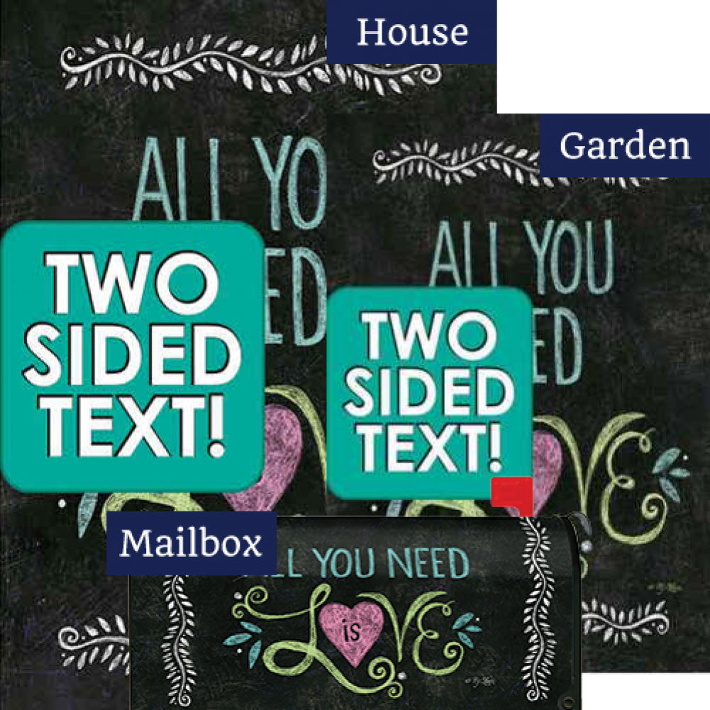 All You Need Is Love Chalkboard Yard Makeover Set (3 Pieces)