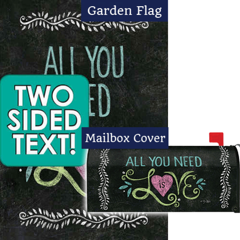 All You Need Is Love Chalkboard Flag Mailwrap Set (2 Pieces)