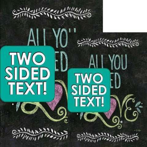 All You Need Is Love Chalkboard Double Sided Flags Set (2 Pieces)