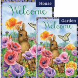 Bunny Poppies Flags Set (2 Pieces)