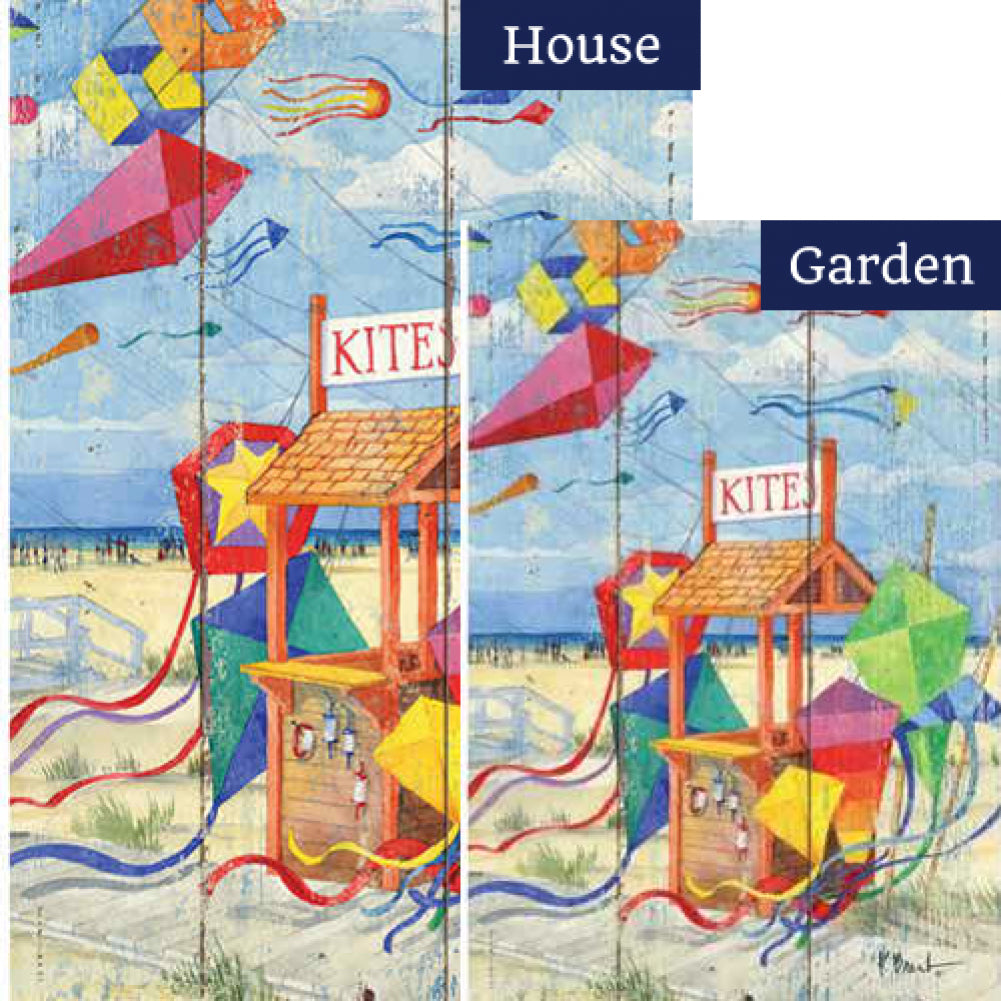 Beach Kite Stand Flags Set (2 Pieces)