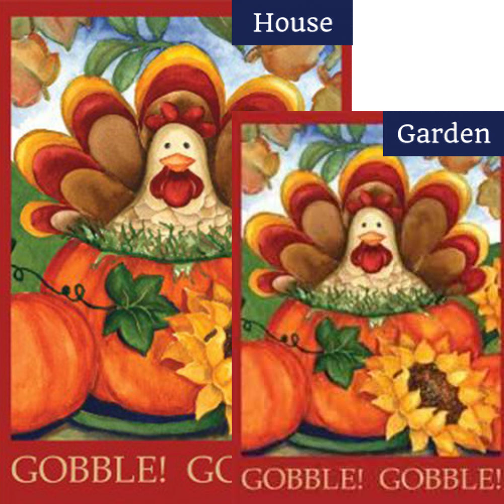 Autumn Turkey Flags Set (2 Pieces)