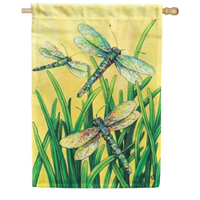 Dragonflies in Flight House Flag