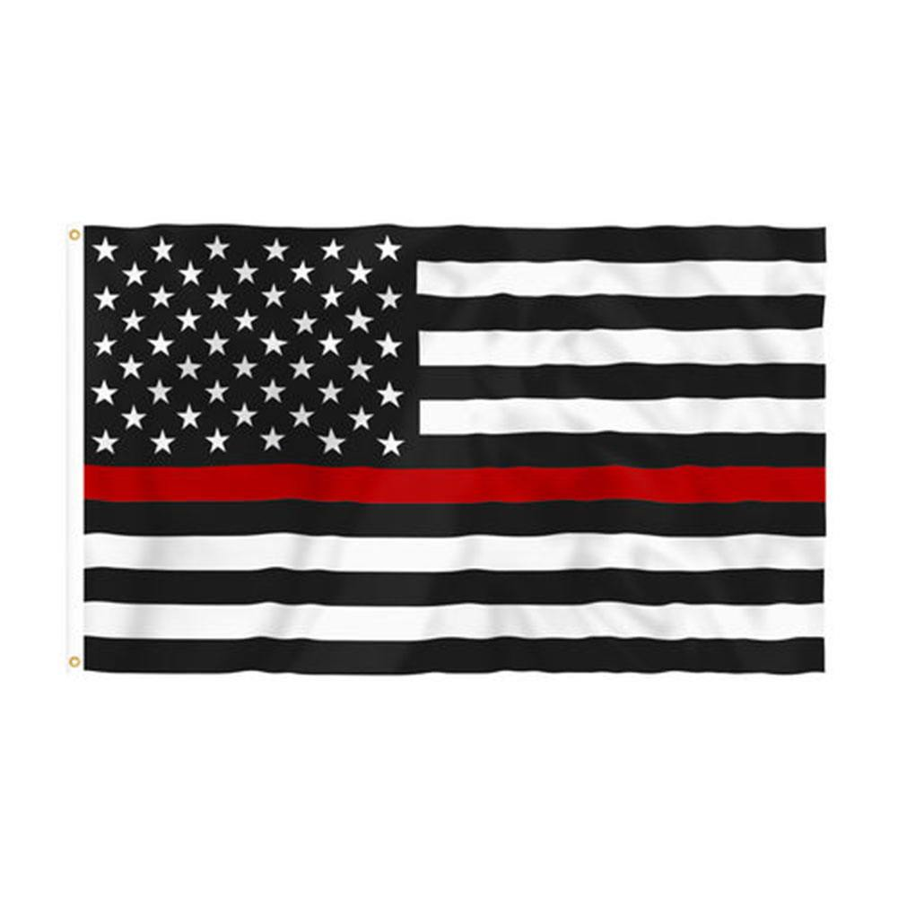 Thin Red Line Grommeted Flag (3' x 5')
